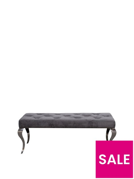 vida-living-ohio-130-cm-velvet-upholsterednbspbench-grey