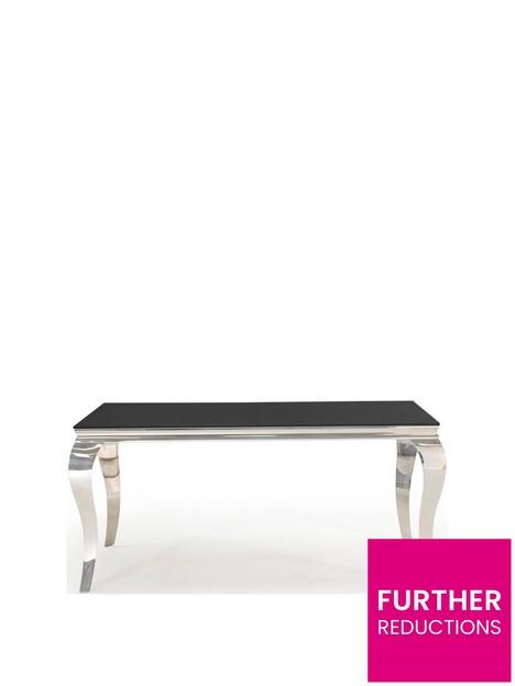 vida-living-ohio-160-cm-glass-topnbspdining-table-black