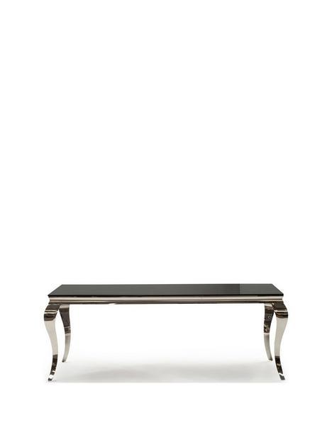 vida-living-ohio-200-cm-glass-topnbspdining-table-black