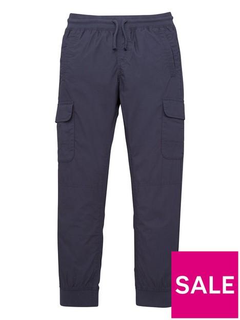 v-by-very-boys-poplin-cargo-trouser-navy