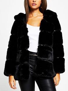 river-island-panelled-faux-fur-hooded-coat-black
