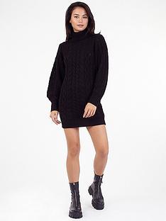 brave-soul-knitted-dress-black
