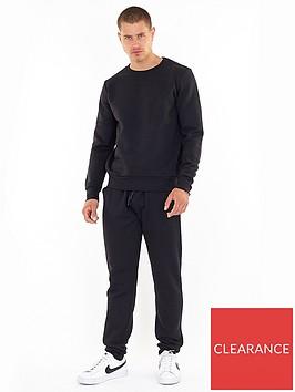 brave-soul-crew-necknbspsweater-and-jogger-set-black