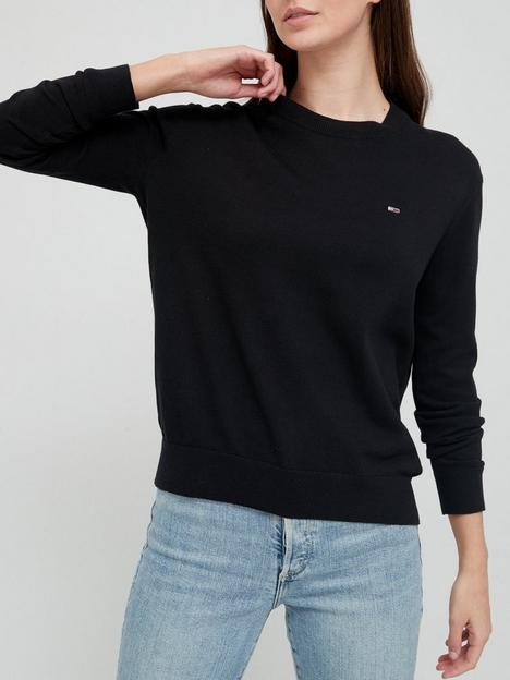 tommy-jeans-soft-touch-crew-black