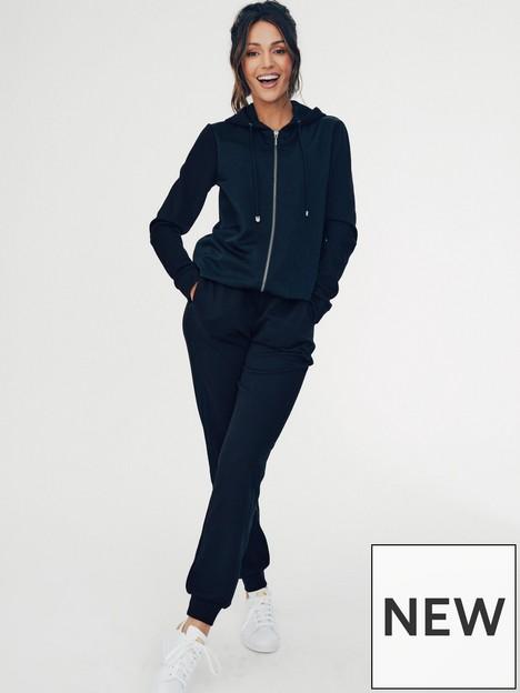 michelle-keegan-woven-panel-jersey-jogger-black