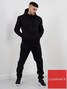 brave-soul-zip-through-hoodie-andnbspjogger-set-black