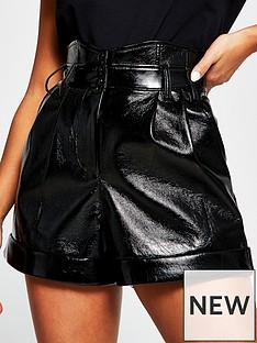 ri-petite-vinyl-corset-short-black