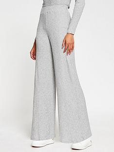 river-island-cosy-flare-jersey-trouser-co-ord-grey