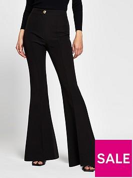 river-island-flare-trouser-black