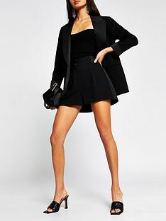 river-island-satin-tux-short-black