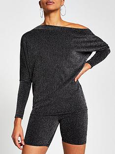 river-island-glitter-off-the-shoulder-top-silver