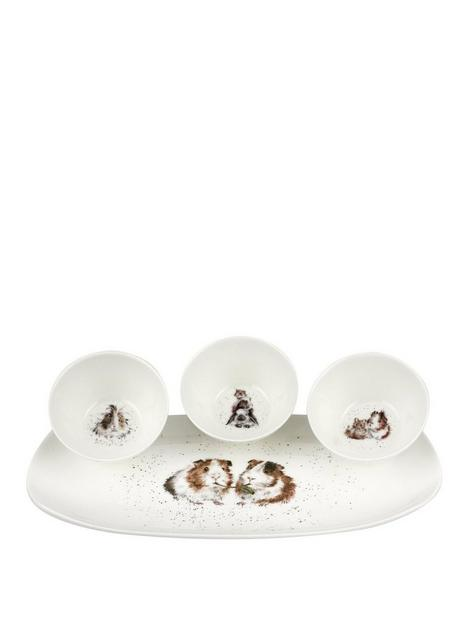 royal-worcester-wrendale-guinea-pigs-3-bowl-tray-set