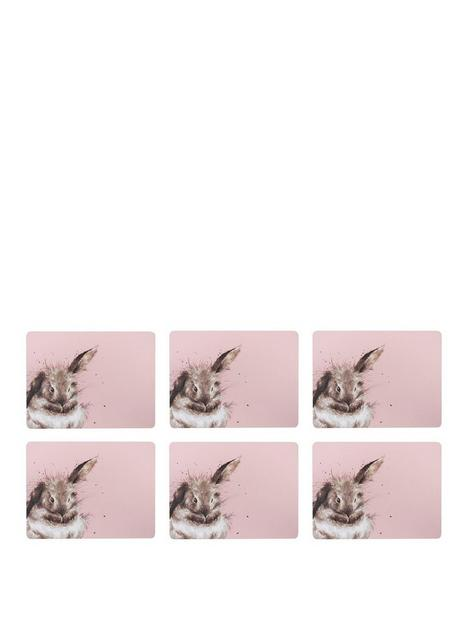 royal-worcester-wrendale-pink-rabbit-placemats
