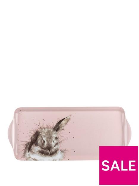 royal-worcester-wrendale-pink-rabbit-sandwich-tray