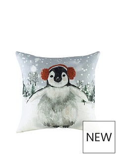 riva-home-snowy-penguin-with-earmuffs-christmas-cushion