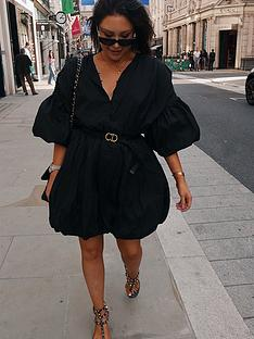 in-the-style-in-the-style-x-lorna-luxenbspexaggerated-puff-ball-shirt-dress-black