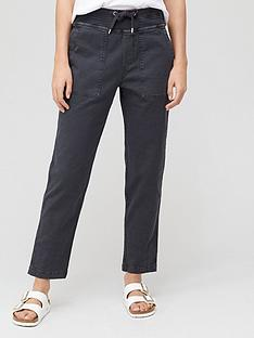 v-by-very-knit-trim-slub-trouser-charcoal