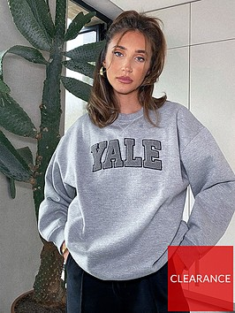 in-the-style-in-the-style-x-megan-mckennanbspyalenbspoversized-sweatshirt-grey