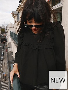 in-the-style-in-the-style-x-lorna-luxe-girlsnbspgirl-blouse-black