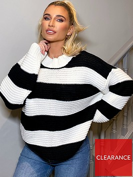 in-the-style-in-the-style-x-billie-faiersnbspstripe-jumper-black
