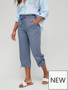 v-by-very-linen-mix-crop-trouser-grey