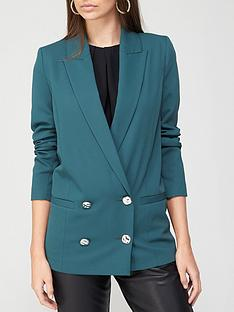 river-island-double-breasted-blazer-green