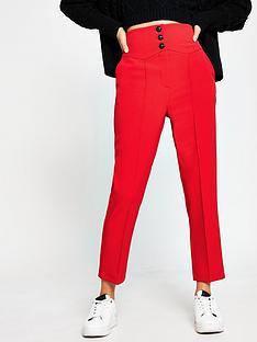 river-island-high-waist-cigarette-trouser-red