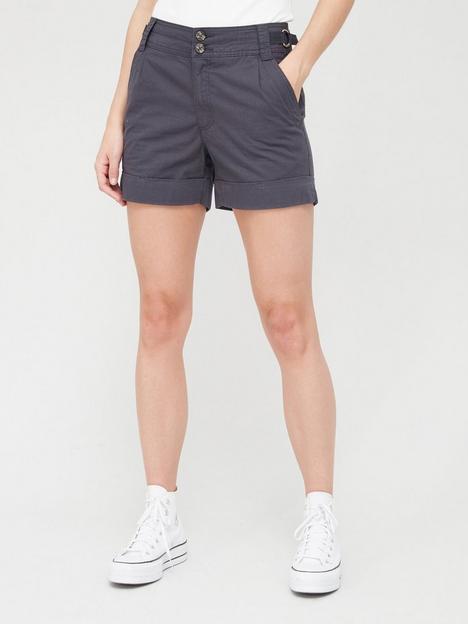 v-by-very-girlfriend-chino-pleat-detail-shorts-navynbsp