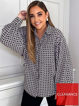 in-the-style-in-the-style-x-jac-jossa-black-geo-print-oversized-balloon-sleeve-shirt-black