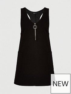 v-by-very-curve-zip-denim-pinafore-dress-black