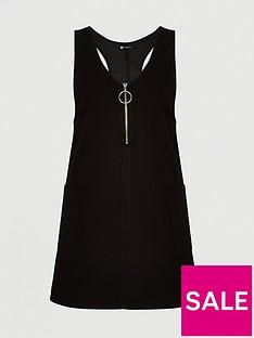v-by-very-curve-zip-denim-pinafore-dress-black