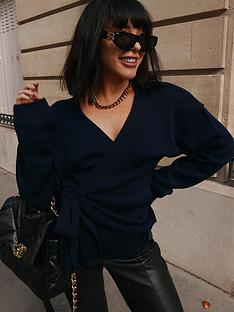 in-the-style-in-the-style-x-lorna-luxe-but-first-wrap-cardigan-navy