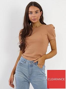 brave-soul-puff-sleeve-t-shirt-camel