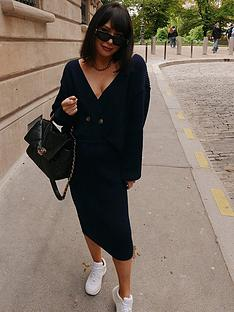 in-the-style-in-the-style-x-lorna-luxe-copenhagen-rib-midi-skirt-navy