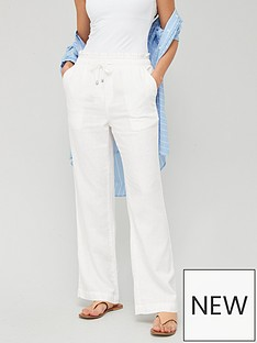 v-by-very-linen-mix-trouser-white