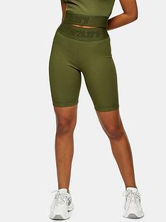 topshop-nadia-cycle-shorts--nbspkhaki