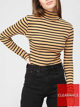 brave-soul-rib-roll-neck-long-sleeve-top-camelblack