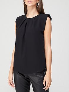 river-island-shoulder-pad-sleeveless-blouse-black