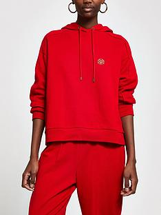 river-island-core-branded-hoody-red
