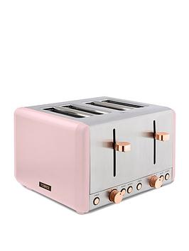 Tower Cavaletto 4 Slice Toaster - Pink