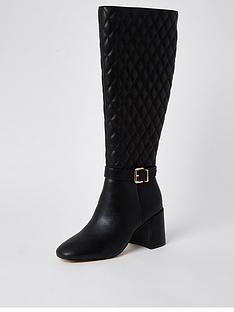 river-island-embroidered-high-leg-boot-black