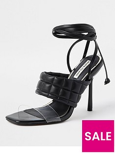 river-island-quilted-tie-up-sandal-black
