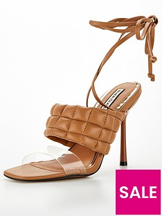 river-island-quilted-tie-up-sandal-tan