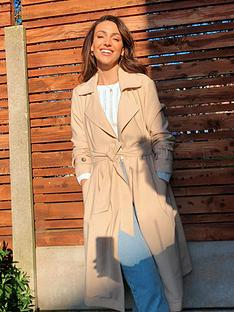 michelle-keegan-utility-trench-coat-tan