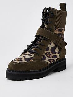 river-island-leather-leopard-mix-lace-up-hiker-boot-beige