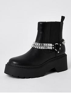 river-island-leather-ankle-chain-boot-black