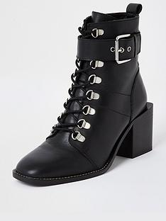 river-island-leather-block-heel-lace-up-boot-black