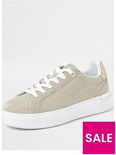 river-island-metallic-trainer-gold