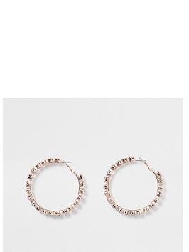 river-island-diamante-raised-stone-hoop-earring-rosenbspgold