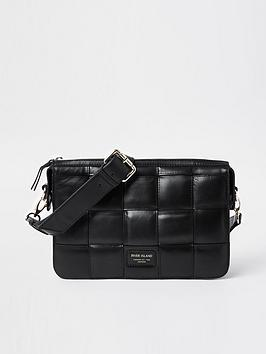 river-island-woven-leather-crossbody-bag-black